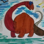 dinosauro colorato